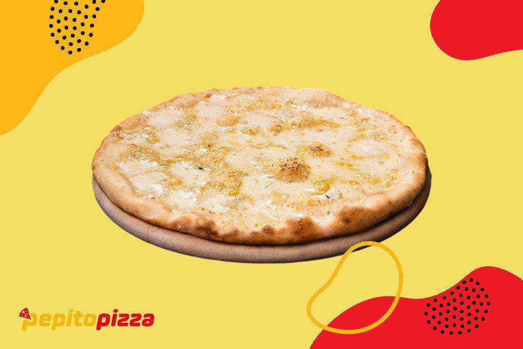 četiri vrste sira,poručite online,online poručivanje,pepito,dostava hrane,kragujevac,quattro formaggi pizza,quattro formaggi pica